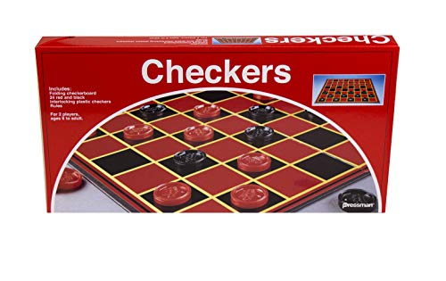 Pressman Checkers -- Classic Game With Folding Board and Interlocking Checkers (Toy)