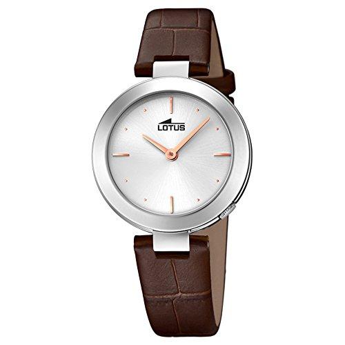 Lotus Damen Analoger Quarz Uhr mit Echtes Leder Armband 18483/1