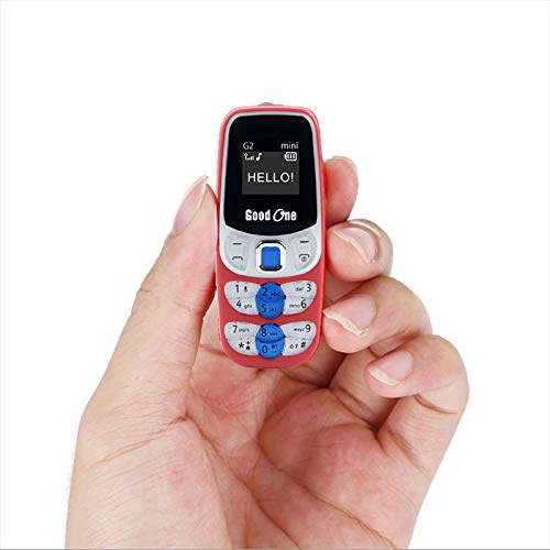 Good ONE G2 Mini World's Smallest Dual Sim Nano Phone with Voice Changer (Red)