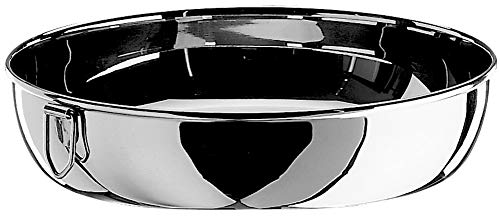Tortiera in acciaio inox, diametro 240 mm
