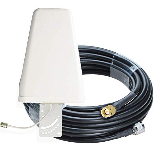 Mountanya3G, 4G External Antenna for Router, Wireless GSM Landline Phone Signal with SMA-Male Connector and Cable (10 Meters)