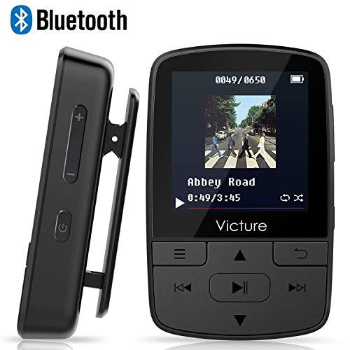 Victure Lettore MP3 Bluetooth con Clip 16GB MP3 Player con Radio FM, MP3 Player per Sport e Corsa,...