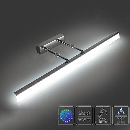 LED Spiegelleuchte 12W Einstellbare Halterung ,LED Badleuchte 4000K Neutralweiss 1200LM,IP44 Badlampe Spiegellampe Acryllampe,LED Badezimmer 50CM, LED Spiegellampe,Schrankleuchte,Wandleuchte