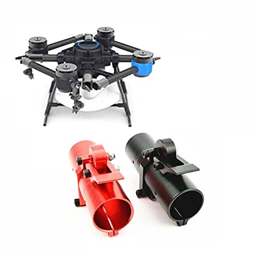 LIXIAONMKOP Home Tools 25mm 30mm 35mm 40mm Pipe Collegamento Union Collegamento Orizzontale Braccio Pieghevole Tubo Giunto Cerniera CNC Alluminio per UAV Multicopter Drone (Color : 1pcs Black D30mm)