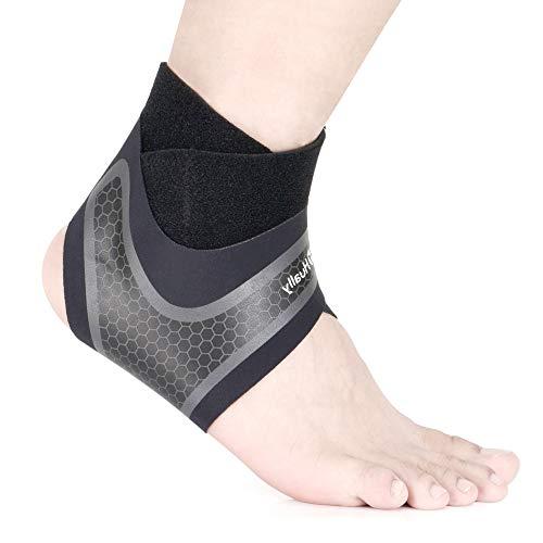 Hually Supporto Caviglia, 1 Paio Tutore per Caviglia Elastica Sportiva Elastica Tutore Fascia Piedino Traspirante Regolabile da Uomo e Donna Distorsione, Supporto per Il Piede Durante Lo Sport