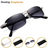 Bifocal Sunglasses Readers for Men and Women - Lightweight Half Frame Reading Glasses +1.75 Quality Outdoor Driving Eyeglass