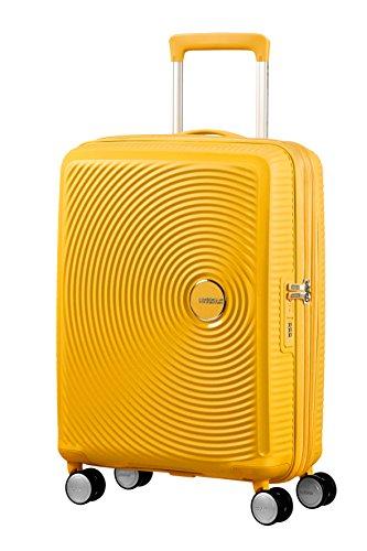 American Tourister Soundbox Spinner Bagaglio a Mano ,Giallo (Golden Yellow), Spinner S (55 cm - 41...