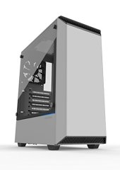Phanteks PH-EC300PTG_WT Eclipse P300 Tempered Glass Steel ATX Mid Tower Case White