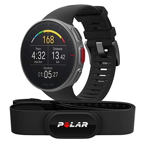 Polar Vantage V HR -Reloj premium con GPS y Frecuencia cardíaca - Sensor H10 - Multideporte y perfil de triatlón - Potencia de running, batería ultra larga, resistente al agua - Negro