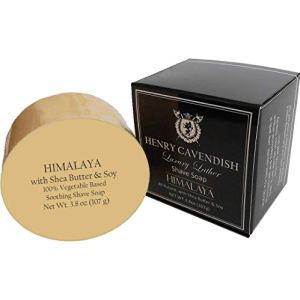 Henry Cavendish Himalaya Shaving Soap with Shea Butter & Coconut Oil. Long Lasting 3.8 oz Puck...