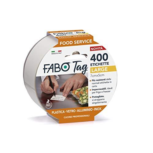 FABO TAG 400 ETICHETTE IMPERMEABILI PER FOOD SERVICE (LARGE)