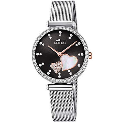 Lotus Damen Analog Quarz Uhr mit Edelstahl Armband 18616/4