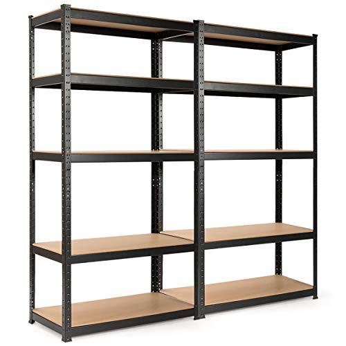 Giantex Storage Shelving Rack Utility Shelf 5-Tier Heavy Duty 2750LBS Garage Shelves Shelving Unit...