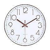 Jomparis 30 CM Silent Non-ticking Grande horloge murale silencieuse sans tic tac...