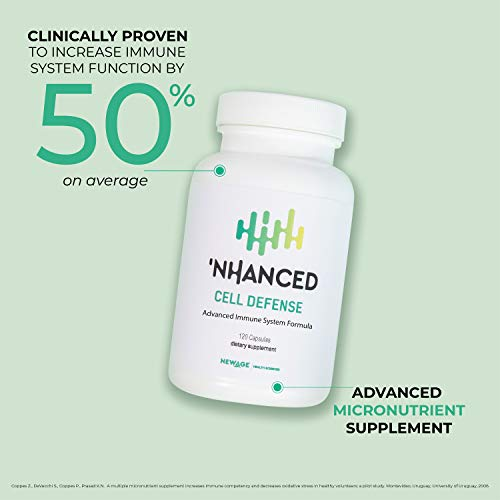 'NHANCED Cell Defense | Immune System Booster and Immunity Support Supplement | Patented and clinically Proven to Boost Immune System Function by 50%, on Average | 120 Capsules (30-Day Supply) 3