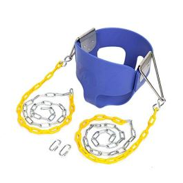 JOYMOR Toddler Swing Extra Long Chain with 2 Carabiners High Back Full Bucket Seat with Coated Swing Chains for Kids Outdoor Fully Assembled