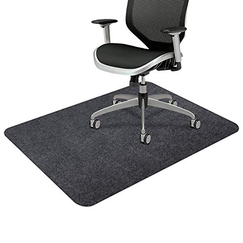 Office Chair Mat, Upgraded Version - Opaque Hard Floor Chair Mat, 0.16' Thick Multi-Purpose Low Pile Desk Mat for Hardwood Floor (35.5 x 55.2in./Dark Gray)