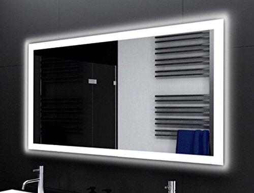 Badspiegel Designo MA4110 mit A++ LED Beleuchtung - (B) 100 cm x (H) 80 cm - Made in Germany - Technik 2019 Badezimmerspiegel Wandspiegel Lichtspiegel TIEFPREIS rundherum beleuchtet Bad Licht Spiegel