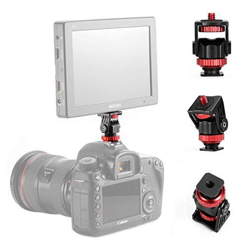 Fotowelt 1/4'' filettatura mini Hot Shoe Adapter 360 gradi monitor del supporto per smartphone, fotocamere, videocamere, GoPro, LED luce video, microfono, monitor video e anello luce flash