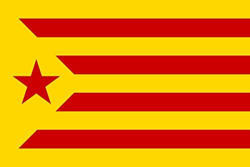 Durabol Bandera de Cataluña.Catalan Estelada Vermella 150 x 90 cm Satin Flag