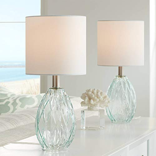 Rita Modern Coastal Small Accent Table Lamps 17 1/2' High Set of...