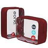 Eono by Amazon - Trousse de Toilette Transparente, Kit de Voyage, Trousse...