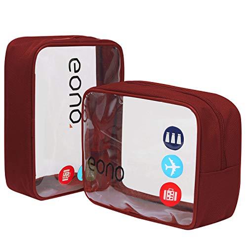 Eono by Amazon - Beauty Case da Viaggio Clear Borsa da Viaggio Impermeabile Cosmetici Trousse...