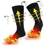 Chaussettes Chauffantes électriques Chaussettes Chauffantes Thermiques pour l'hiver Chauffe-pieds...