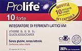 Prolife Vzdt032 10 Forte Capsule - Integratore con 10 Miliardi di Probiotici (Fermenti Lattici Vivi) per Dose, 20 capsule da 515 mg, 8.4 gr