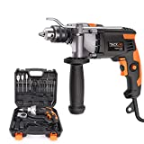 Hammer Drill, TACKLIFE 7.1-Amp 3000 RPM Corded Drill with 15 Drill Bit Set, Carrying Case, Rotating Hand, Aluminum Machine Shell, Hammer and Drill 2 Mode in 1, Suitable for DIY Woodworking - PID03B