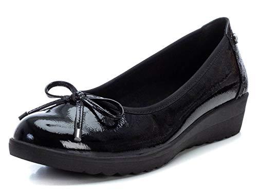 XTI - Zapato Bailarina para Mujer - Color Negro - Talla 37