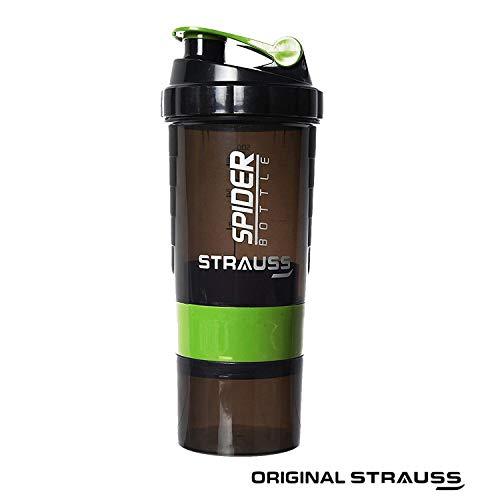 Strauss Spider Shaker Bottle 500ml, (Green)