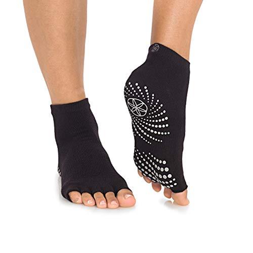 Gaiam Yoga Socks - Grippy Non Slip Sticky Full-Toe Grip...