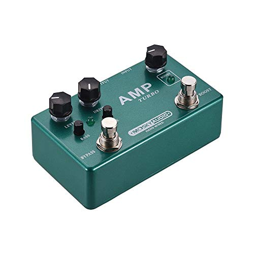 Asdomo AMP TURBO 2-in-1 Guitar Effect Pedal Boost + Classic Overdrive Effects