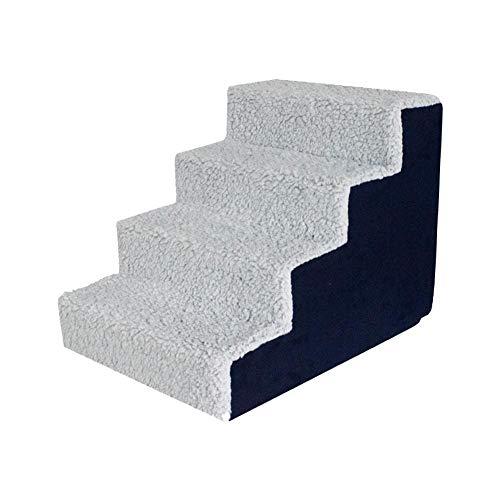 haodene Hundetreppe Haustiertreppen Kletterleiter Komfort-Schwammstufen Für Haustiere Klettern Sofa Oder Bett, Abnehmbarer Waschbarer Bezug, 3 Stufen / 4 Schritte