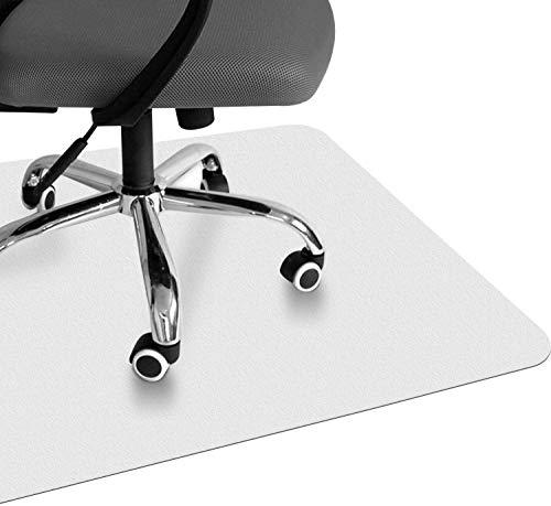 VPCOK Bodenschutzmatte, transparent, 120 x 90 cm, robuste und rutschfeste Stuhlunterlage für Hartböden, Laminat, Parkett und Fliesen (Mehrweg)