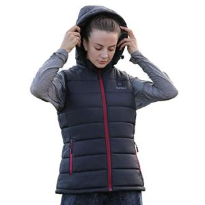 Heated Vest, IUREK ZD939 Women's Heated Clothing with 7.4V Battery Pack