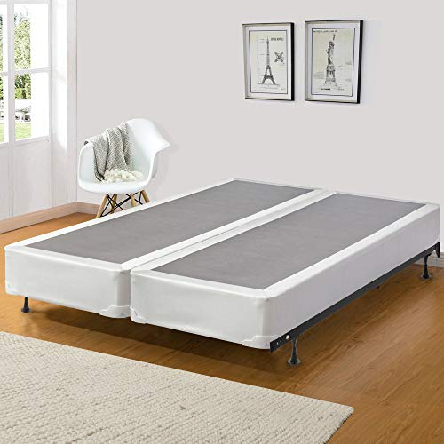 Spinal Solution, 8 inch Strong and Sturdy Assembled Traditional Wood Box Spring / Foundation for Mattress