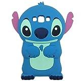 Galaxy J3 Case,Galaxy Express Prime Case, Phenix-Color 3D Cute Cartoon Monster Blue Giant Horn University Soft Silicon Gel Back Cover Case for Samsung J3 Amp Prime (#07)
