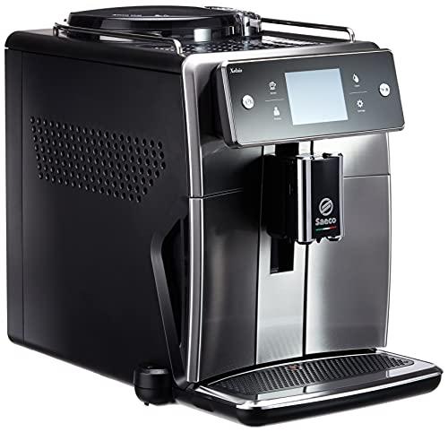 Saeco SM7683/10 Xelsis Macchina da caffè automatica, 15 specialità di caffè (touch screen, 6 profili utenti), 18/8, acciaio inox/nero