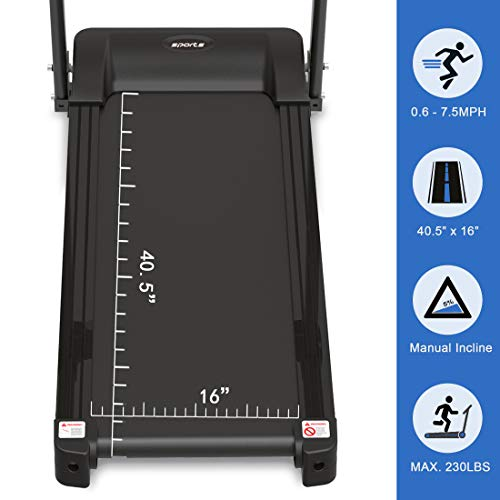 """HYLINCO Folding Electric Treadmills for Home, Foldable Compact Treadmill with Incline, 5"""" LCD Display and Tablet/Cup Holder, Portable & Quiet Running Machine 2"""