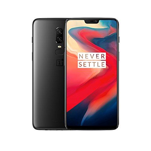 OnePlus 6 Smartphone débloqué 4G (Ecran : 6,28 pouces - 8 Go RAM - 128 Go stockage - Double SIM - Android) Midnight Black - Ecouteurs non-inclus