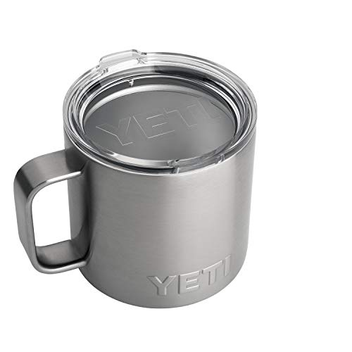 YETI Unisex's Stainless Rambler 14 oz Steel Vacuum Insulated Mug with Lid, 1 EA