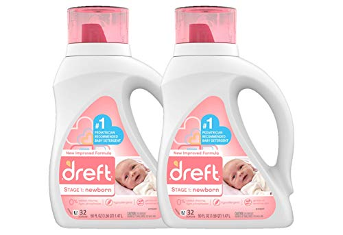 Dreft Stage 1: Newborn Hypoallergenic Liquid Baby Laundry...