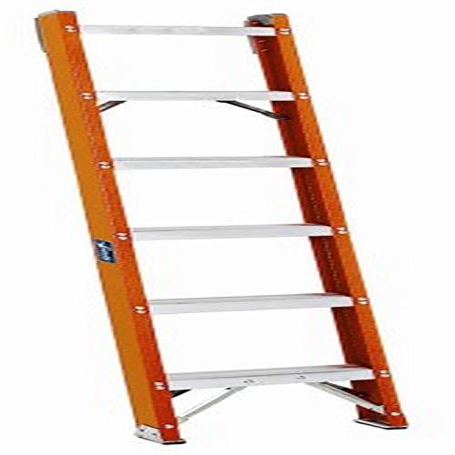 7. Louisville Fiberglass Shelf Ladder