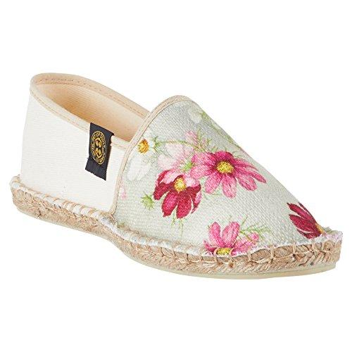 Art Of Soule Boheme Alpargatas Mujeres Beige/Flor - 36 - Alpargatas Shoes