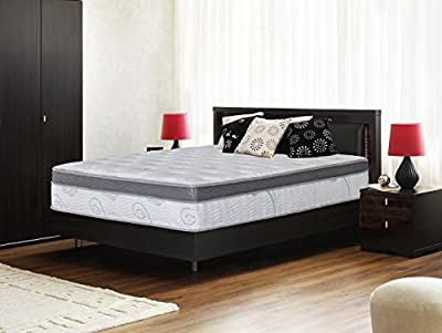 Composed of 5 layers includes pocket spring Memory foam adapt to your body shape and temperature Gel infused memory foam regulates temperature while conforming to the body to ease pressure points To ensure that this mattress lasts many years, its coi...