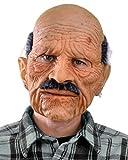 Zagone Bad Geezer Mask, Old Balding Man, Mustache, Supersoft