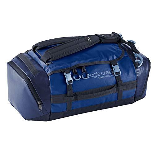 Eagle Creek Cargo Hauler Duffel Bag 40L, faltbare Reisetasche, aus abrieb- & wasserbeständigem TPU-Gewebe, Rucksack und Koffer in einem, Artic Blue, S
