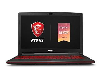 MSI GV63 8SE-014 15.6' Performance Gaming Laptop NVIDIA GEFORCE RTX 2060 6G, 120Hz 3ms, Intel i7-8750H (6 cores), 16GB, 256GB NVMe SSD+1TB, Red Backlit KB, Win 10, Black